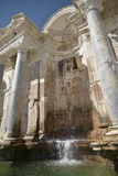Fontain in Sagalossos, antic city. Waterfall in fontain - Ruins of beautiful antic city Sagalossos in Turkey stock images