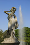 Fontain statue. Months fountain in Valentino park in Turin. Fountain with statues which represent months of year and stories - July Royalty Free Stock Image