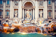 Fontain Trevi, Rome, Italy Royalty Free Stock Photo