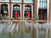 Fontain w centrum Amstelveen Holandia zdjęcia royalty free