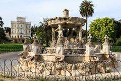 Fontainbernini genoemd Slakkehuis in Villa Doria Pamphili bij via Aurelia Antica royalty-vrije stock afbeelding