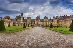 Fontainbleau chateau near Paris, France Stock Photos