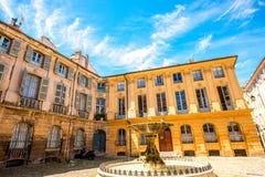 Fontaine à Aix-en-Provence image libre de droits