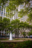 Fontaine à Bowling Green, dans le Lower Manhattan, New York photo stock