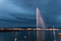 Fontaine à Genève Photos stock