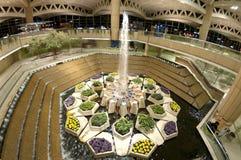 Fontaine à l'aéroport à Riyadh, Arabie Saoudite photos libres de droits