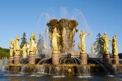fontaine 'amitié des peuples' plan rapproché, l'ENEA, Moscou, Russie Images libres de droits