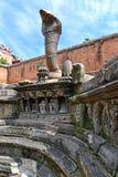 Fontaine antique dans Bhaktapur nepal Maintenant détruit après une masse Photographie stock libre de droits
