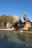 Fontaine aux Lions  in  Félix Eboué square Stock Photos
