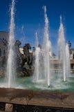 Fontaine avec des chevaux Image stock