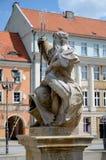 Fontaine avec le Neptune à Gliwice, Pologne Images libres de droits