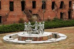 Fontaine Barmalya Volgograd, Russie Image libre de droits