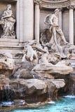 Petit groupe de Fontana di Trevi, Rome, Italie photo libre de droits
