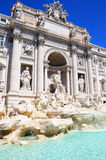 Fontaine baroque de TREVI à Rome l'Italie Photo libre de droits