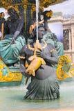 Fontaine célèbre à Paris illustration de vecteur