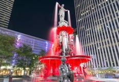 Fontaine carrée Image libre de droits