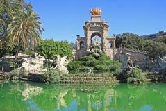 Fontaine Cascada chez Parc de la Ciutadella à Barcelone images stock