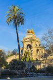 Fontaine Cascada monumental en parc dans la ville de Barcelone Photos libres de droits