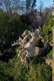Fontaine Cascada monumental en parc dans la ville de Barcelone Photos stock