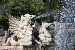 Fontaine chez Parc de la Ciutadella à Barcelone Image libre de droits