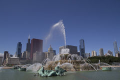 Fontaine Chicago de Buckingham Image stock