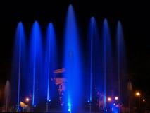 Fontaine colorée. Photographie stock libre de droits