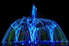Fontaine colorée de danse Image stock