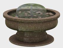 Fontaine concrète de jardin Image libre de droits