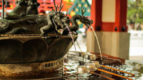 Fontaine détaillée de purification de dragon Images libres de droits