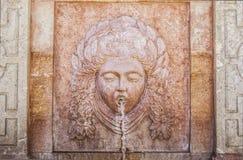 Fontaine d'éléments, la terre, Antequera, Espagne Photo stock