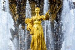 Fontaine d'amitié de peuples à Moscou Photo libre de droits