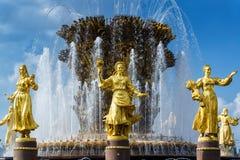 Fontaine d'amitié de peuples au centre d'exposition de la Tout-Russie (VDN Images stock