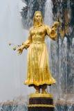 Fontaine d'amitié de peuples au parc de VDNKH à Moscou Images libres de droits