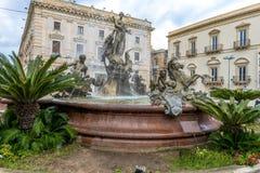 Fontaine d'Artemis, Syracuse Photos libres de droits