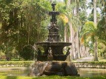 Fontaine d'eau au jardin botanique en Rio de Janeiro photos libres de droits