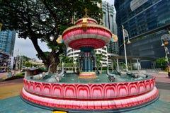 Fontaine d'eau, Brickfields, Kuala Lumpur Photos libres de droits