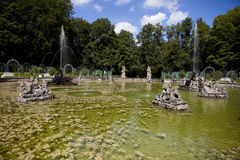 Fontaine d'eau - château de Bayreuth (Ermitage) Photographie stock libre de droits