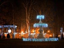 Fontaine d'eau décorée, Zagreb, Croatie image stock