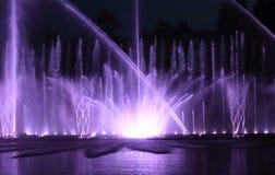 Fontaine d'eau de couleur Photo stock
