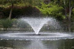 Fontaine d'eau en parc Photos libres de droits