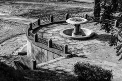 Fontaine d'eau en parc Image libre de droits