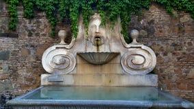 Fontaine d'eau, par l'intermédiaire de Giulia, Rome, Italie Photographie stock