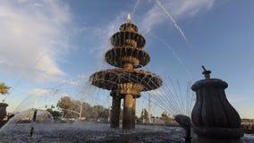 Fontaine d'eau Scottsdale, Arizona, USA banque de vidéos