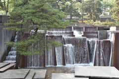 Fontaine d'Ira Keller à Portland, Orégon image stock