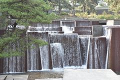 Fontaine d'Ira Keller à Portland, Orégon photos stock