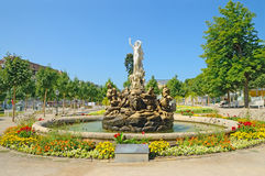 Fontaine d'undine-Brunnen en bei Wien de Baden Photographie stock libre de droits
