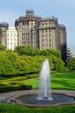 Fontaine dans Central Park Photos stock