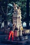 Fontaine dans Dubrovnik Photos libres de droits