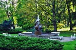 Fontaine dans Franzensbad Photo libre de droits
