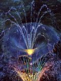 Fontaine dans la lumière Images libres de droits